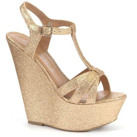 Wedges Kokop Hitam Glitter Gold gold glitter platform wedges shoes gold glitter and wedges
