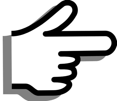pointing finger clipart finger pointing clip at clker vector clip