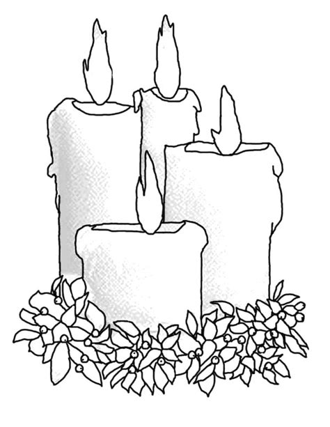 How To Draw Candle Coloring Pages Best Place To Color Tree With Candles Coloring Page