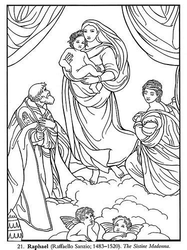 printable coloring pages renaissance color your own italian renaissance masterpieces raphael fa