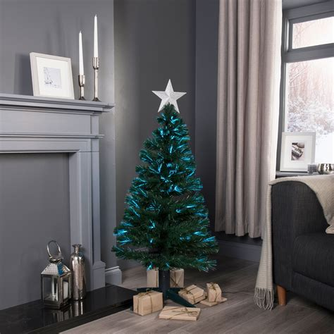 b q diy store pre lit trees 4ft fibre optic rotating pre lit tree departments diy at b q