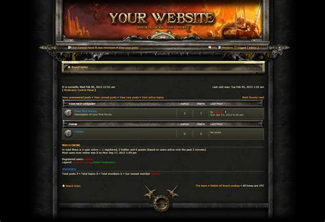 phpbb templates hammerfall phpbb forum skin