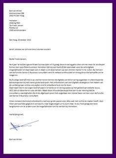 Cv Sjabloon Intermediair een voorbeeld om een goede motivatiebrief te schrijven