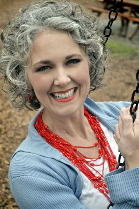 gorgeous grey hair styles grey hairstyle curly