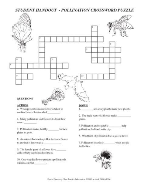 colorful flower crossword flowers unit project performance tasks