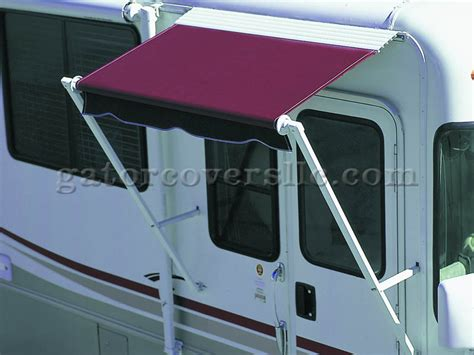 over the door awnings 66in over the door awning vinyl with straight arms