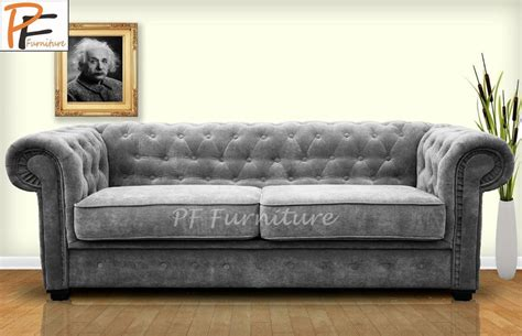 Fabric Chesterfield Sofas Uk Brand New Imperial Chesterfield 2 Seater Sofa Bed Fabric Ebay