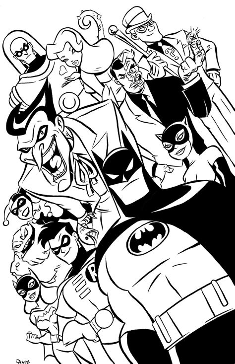 batman animated coloring pages batman the animated series poster by scoot by scootah91 on