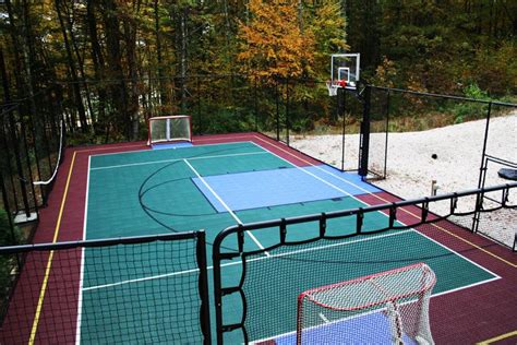 backyard sports courts check out this snapsports outdoor multi game backyard