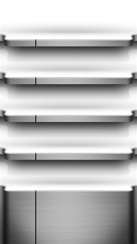 Iphone 5 Shelf Wallpaper by Chrome Shelf Iphone Wallpaper Hd