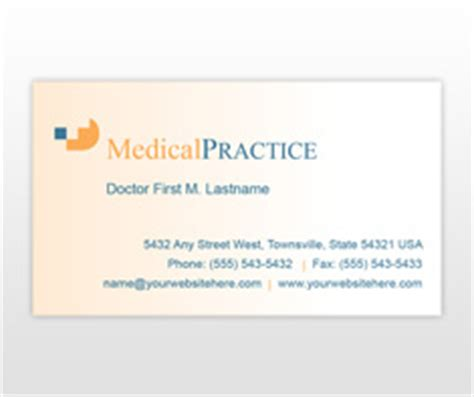 Practice Card Template by Health Care Flyer Brochure Templates