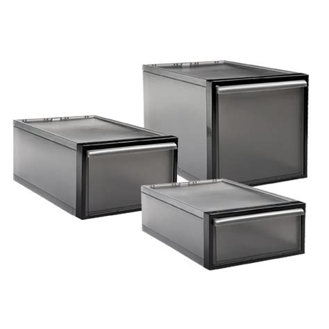 Like It Drawers Like It 174 Smoke Stacking Drawers The Container Store