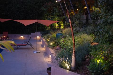 Pool Deck Lighting Contemporary Landscape Los Pool Patio Lighting