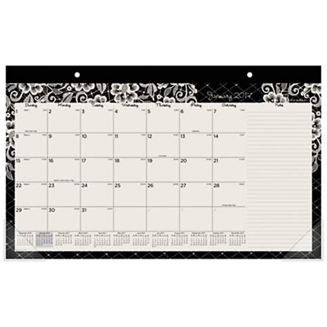 8 x 11 desk calendar at a glance fashion monthly desk pad calendar 17 x 11