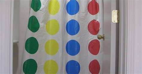 twister shower curtain recycled twister mat shower curtain upcycle ideas
