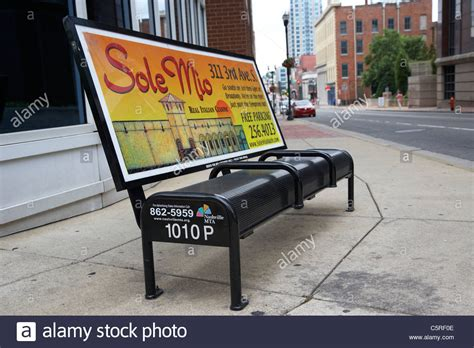 advertising bench bus stop and bench with advertising board nashville