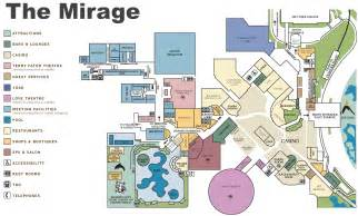 Las Vegas Hotels Map by Las Vegas The Mirage Hotel Map