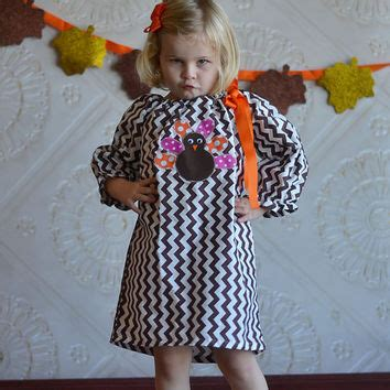 thanksgiving dress toddler thanksgiving turkey appliqued brown from it s sew princess