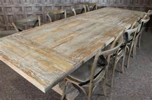 Distressed limed elm table white washed tuscan base dining table