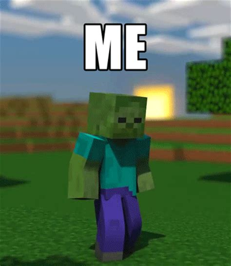 imagenes con movimiento de minecraft animation zombie gif find share on giphy