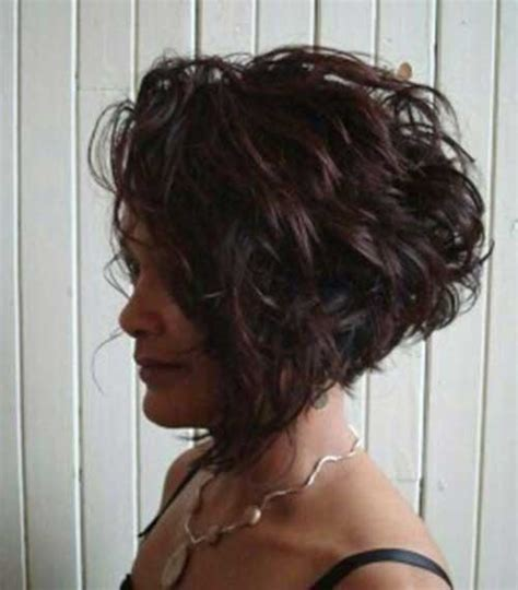 a line bob hairstyles pictures with curly hair stylish short haircuts for curly wavy hair short