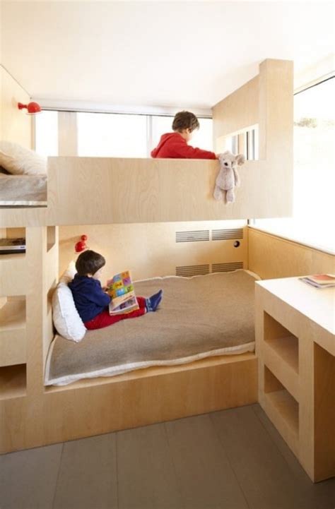 Cool Bunk Bed Ideas 26 Cool And Functional Built In Bunk Beds For Digsdigs