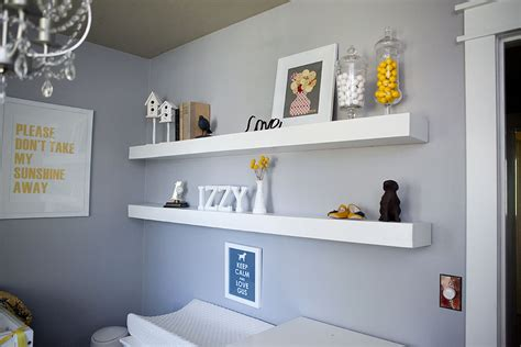 Nursery Wall Shelf by White Nursery Shelves Diy Projects