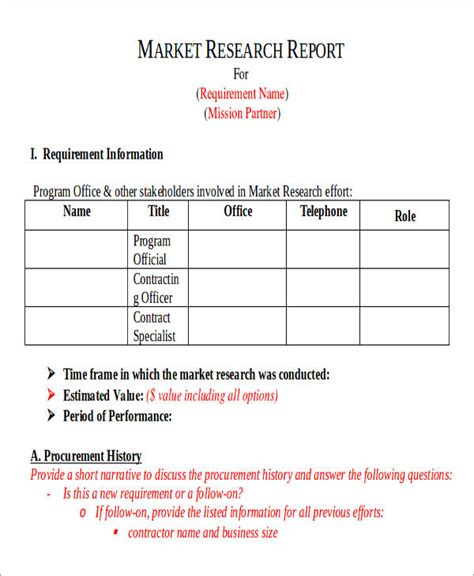 market research report template college essays college application essays sle market research report