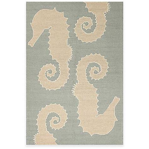 seahorse rug jaipur grant design seahorse indoor outdoor rug in blue beige bed bath beyond