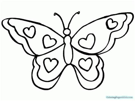 simple coloring pages of butterflies simple butterfly coloring pages coloring pages for kids