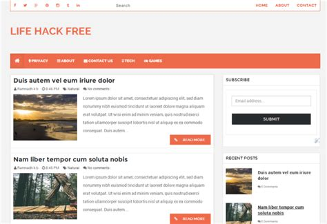 hacking templates for blogger life hack responsive blogger template blogger templates