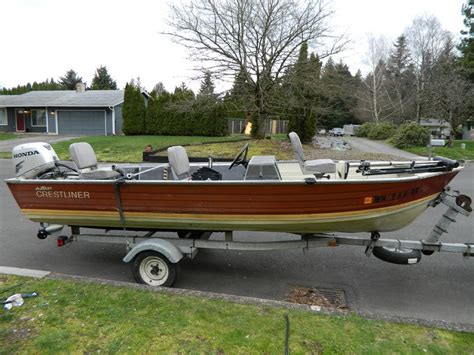 aluminum boats washington state 2009 amf crestliner fishhawk powerboat for sale in washington