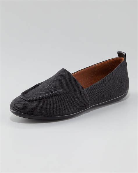 donald j pliner loafers donald j pliner hema elastic slip on loafer in black lyst