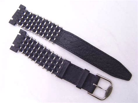Tiss T Black tissot new stock 19 14mm genuine leather ss crossover