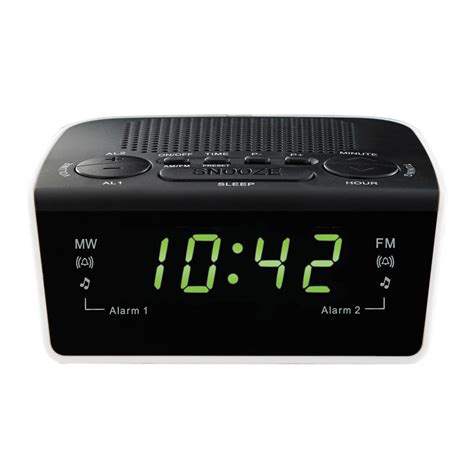 pye am fm clock radio with dual alarm clock snooze with battery back up ebay