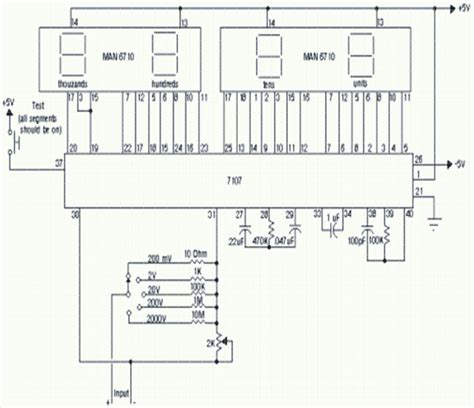 analog multimeter circuit diagram wiring diagram components