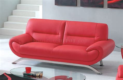 metal couch legs contemporary red leather 7580 sofa with options metal legs