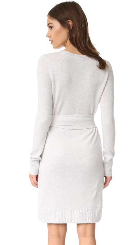 club monaco remlee tie front sweater dress lyst