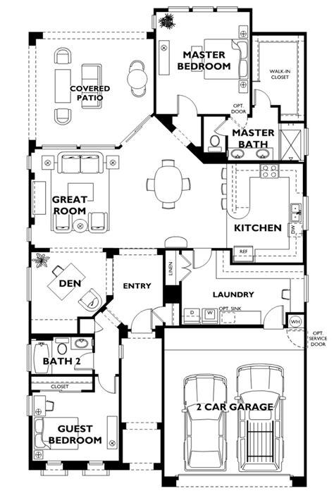 Model Floor Plans | trilogy at vistancia sidus model floor plan