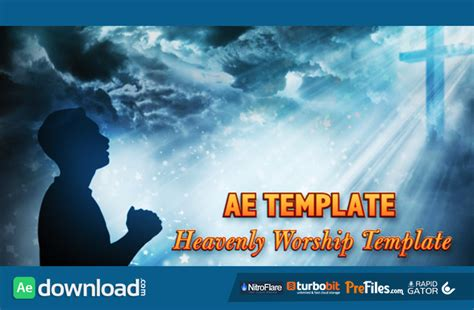 church after effects templates worship heaven title opener videohive free