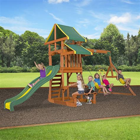 backyard discovery tucson cedar swing set amazon com backyard discovery tucson all cedar wood playset swing set toys games attractive