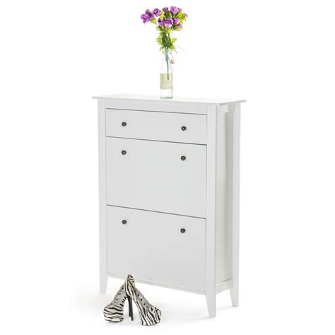 shoe cabinet with storage drawer wooden shoe rack cabinet with storage drawer home treats uk