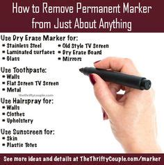 How To Get Sharpie A Table by 1000 Ideas About Remove Permanent Marker On