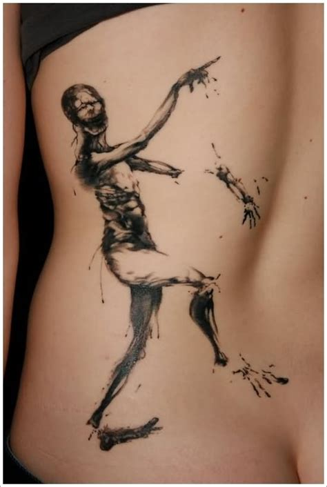 zombie tattoo ink 21 simple horror tattoos