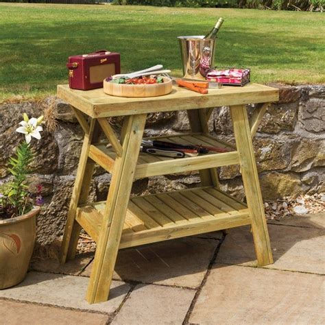 bbq table zest bbq side table one garden