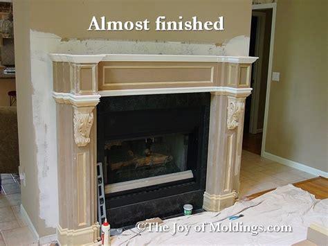 build fireplace mantel  part  paneled frieze