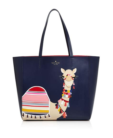 Katespade Wallet Camel lyst kate spade new york spice camel novelty tote in blue