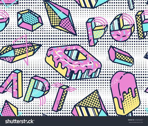 pattern in pop art bright vector seamless pattern pop art stock vector