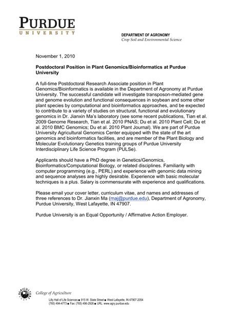 sle cover letter for postdoctoral position in science