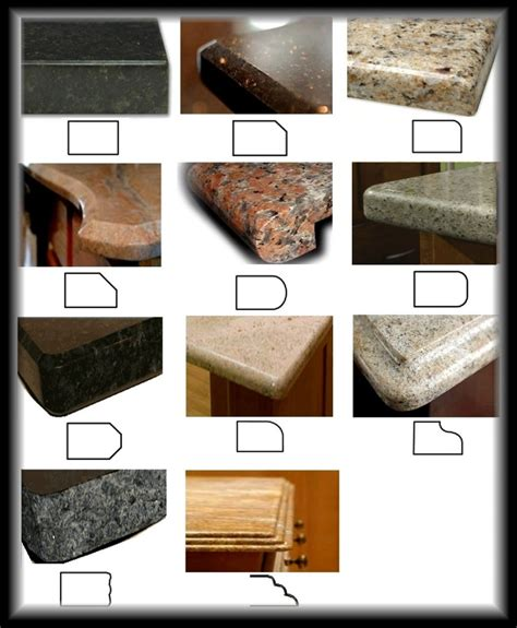 Countertop Edges Options types of granite countertops images